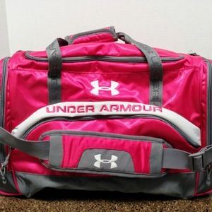 Women's Pink Under Armour Gym/Duffle Bag